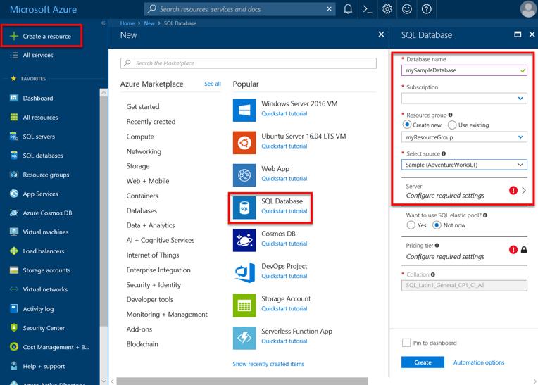 Create Resource screenshot