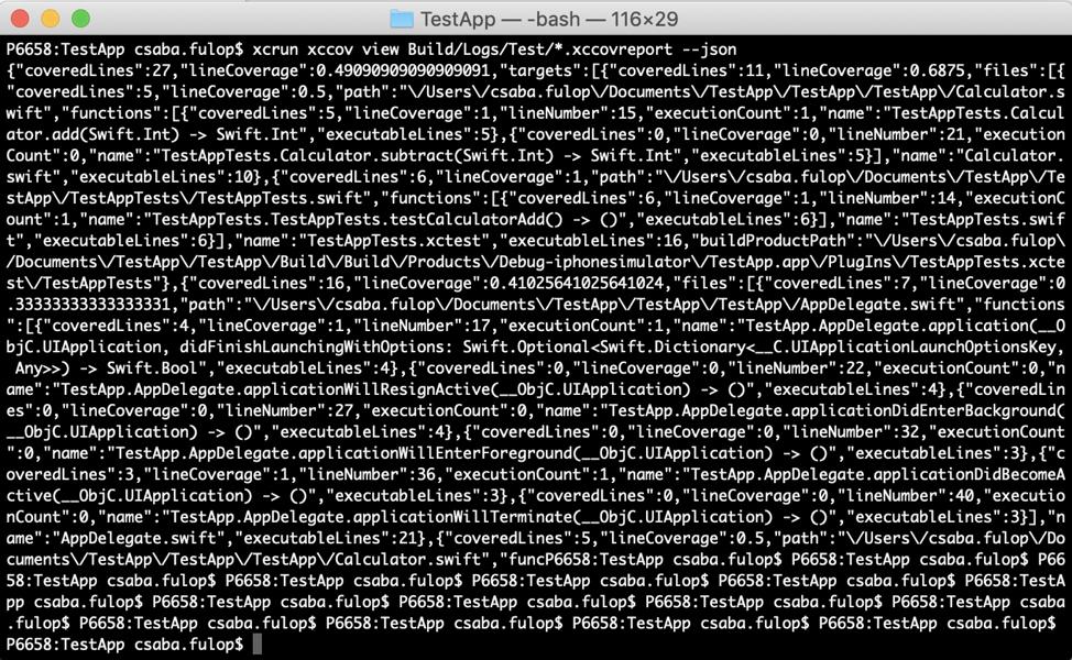 Cognizant Softvision - Integrate Xcode Code Coverage (xccov