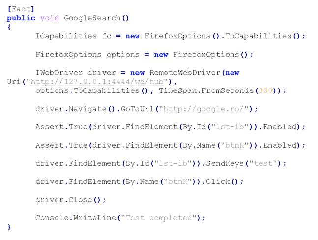 Fact code screenshot